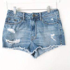 UO BDG High Rise Dree Cheeky Denim Shorts in Sz 26